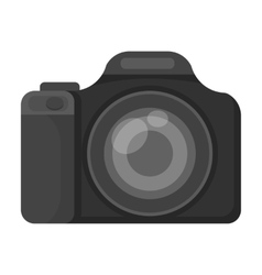Digital camera icon in monochrome style isolated vector image