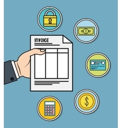 document invoice payment icon graphic vector image