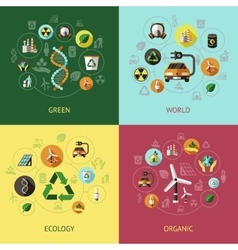 Ecology Colored Compositions vector image vector image