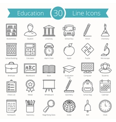 Education Line Icons vector image