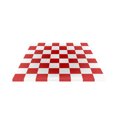 Empty chess board in red and white design vector