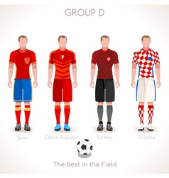 Euro 2016 group d championship vector