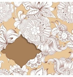 Frame on background with sketchy doodles ornaments vector image vector image