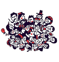 Groop of people - graphic concept vector image vector image