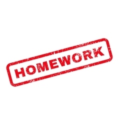 Homework Text Rubber Stamp vector image vector image