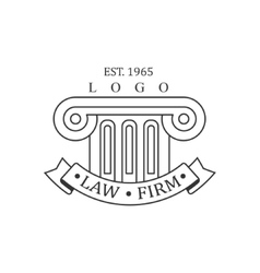 Law Firm And Lawyer Office Black And White Logo vector image vector image