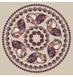 Mandala made of Seashells vector image