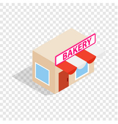 pastry shop isometric icon vector image