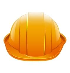 Protective helmet orange construction helmet vector