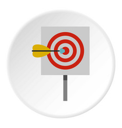 Red target and dart icon circle vector