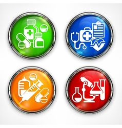 Set of color medicine circle vector image