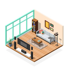 Sitting room apartment interior vector