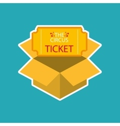 Ticket circus design vector