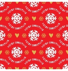 Trendy christmas seamless pattern hand-drawn vector