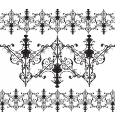 Vintage gothic ornament pattern elements vector