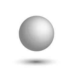 White 3d globe light gray ball realistic white vector