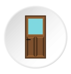 Front door icon flat style vector