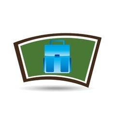 school board icon bag design vector image