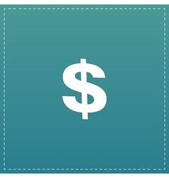 Dollar Single icon vector image