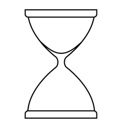 Sandglass icon outline style vector