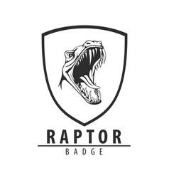 Logo with predator vector