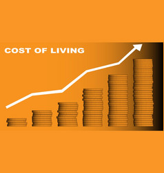 Cost of living vector