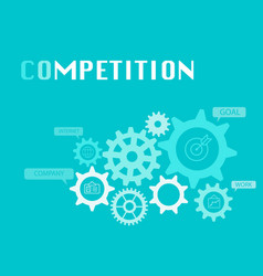 Competition graphic for business concept vector