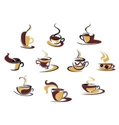 Different coffee cups vector