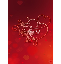 Valentines card 2014 valentines day red vector