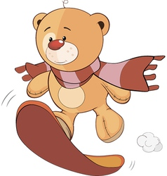 A stuffed toy bear cub cartoon vector