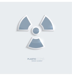 Plastic icon radiation symbol vector