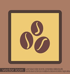 Coffee beans symbol vector