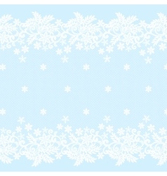 White lace border vector