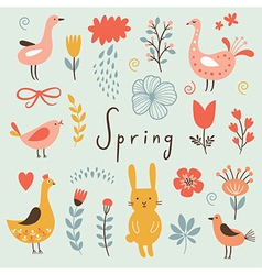 Spring collection elements vector