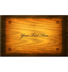 old paper on wood sign vector image
