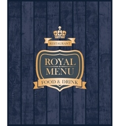 Cover royal menu vector