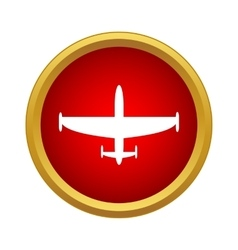 Aircraft icon in simple style vector