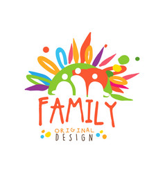 Abstract family logo with flat colors vector