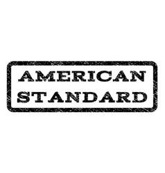 American standard watermark stamp vector