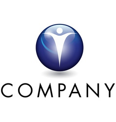 beautiful corporate emblem vector image vector image