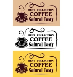 Best Collection Coffee labels vector image vector image