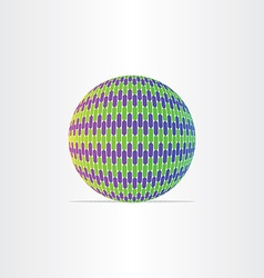 Blue green globe ball icon vector