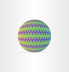blue green globe ball icon vector image