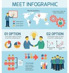 Business People Meeting Infographics vector image vector image
