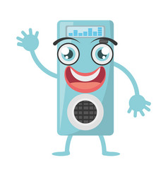 Cartoon music mp3 icon vector