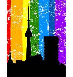 city a rainbow vector image vector image
