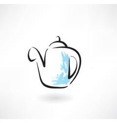 coffee pot grunge icon vector image