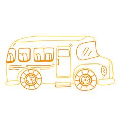 color line vehicle school bus education vector image vector image