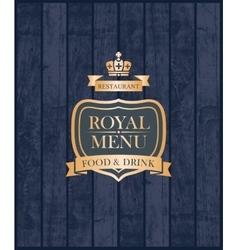 Cover royal menu vector image