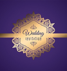 decorative wedding invitation 0407 vector image